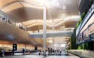 Design interior futurist al Aeroportului Western Sydney