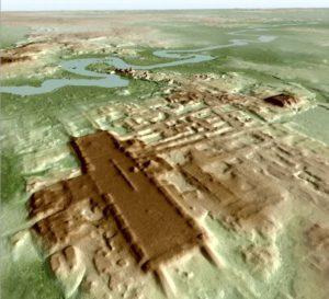 Monumentul nu este vizibil de la nivelul solului.