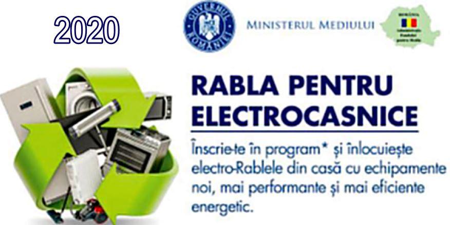 Totul despre Programul Rabla Electrocasnice 2020