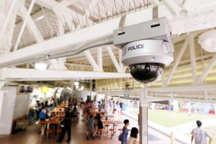 Camere video ale politiei din Singapore plasata intr-un magazin